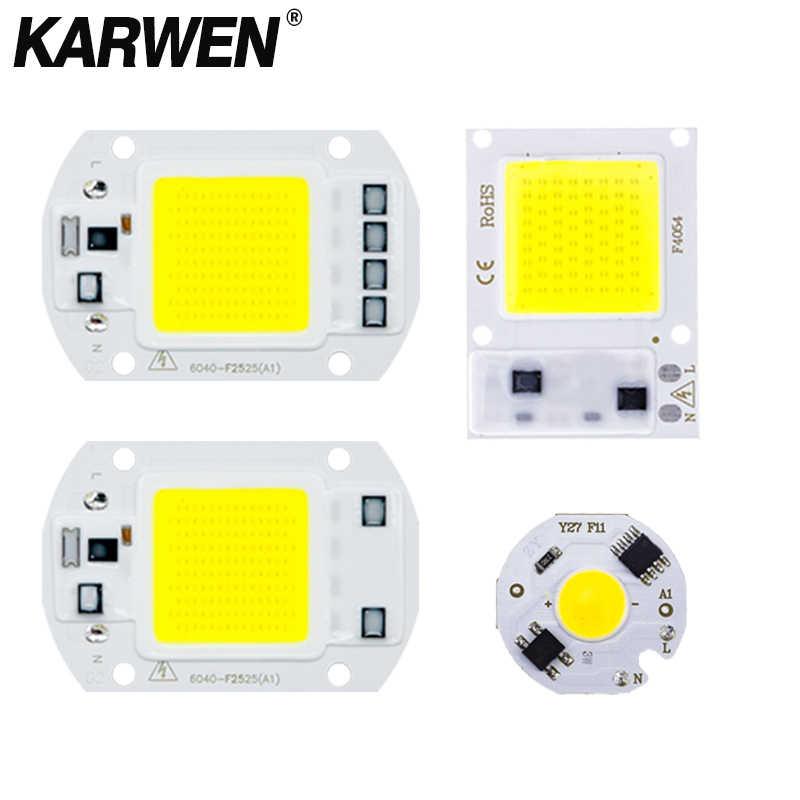 Não há necessidade motorista cob lâmpada led chip 3 w 5 7 9 10 20 30 50 50 220 v inteligente ic lampada led lâmpada de inundação chips de luz iluminação spotlight