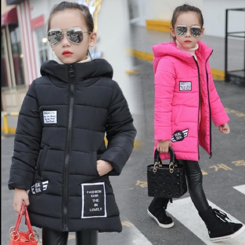 NICBUY mengl001 Girls child wadded jacket outerwear medium-long cotton-padded jacket thickening children's clothing winter new arrival maternity clothing winter outerwear cotton padded jacket fashion top fashion warm jacket medium long plus size