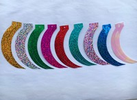 2kgs 17*85mm Sickle Cat Tail Shape Reaphook Loose Laser Sequins Paillettes Sewing Crafts 13 Color Available Moon Confetti