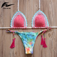 2016 Push Up Bikini Monokini Swimsuit Beach Suit Women Swimsuit Crochet Bikini Swimwear Women Fashion Swimwear