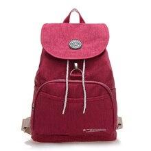 High Quality Backpack Mochila Women School Bag Femininas Solid Waterproof Nylon Bolsas Female Rucksack Travel Shoulder Bagpack