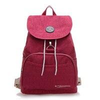 2015 High Quality Backpack Mochila Women Bag Femininas Solid Waterproof Nylon Bolsas Female Rucksack Colorful Travel