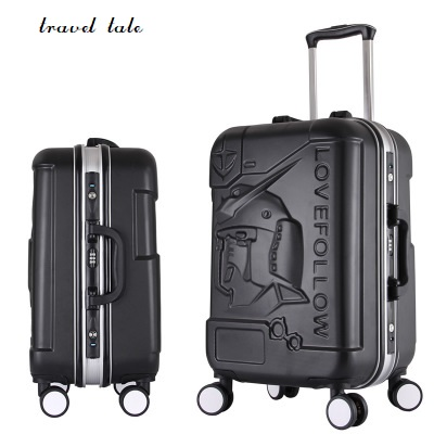 Алюминиевый стержень высокого класса ABS стержень алюминиевая рама коробка универсальная колеса коробки багажа на плате Размер 20/24 /28