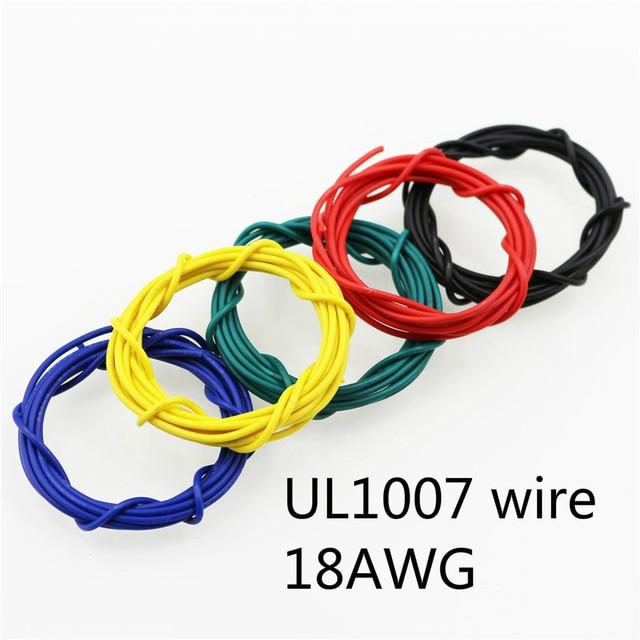 1 meter UL 1007 18 AWG Elektronische Draad 16.4 FT Diameter 2.0mm Flexibele Gestrande kabel lamp Dirigent Om DIY 10 kleuren