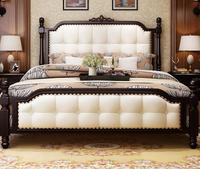 Beautiful American Solid Wood Bed, 1.8 M Double Bed, Simple American Solid Wood Bed From Foshan China