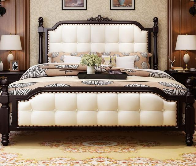 Beautiful American Solid Wood Bed, 1.8 M Double Bed, Simple American Solid  Wood Bed