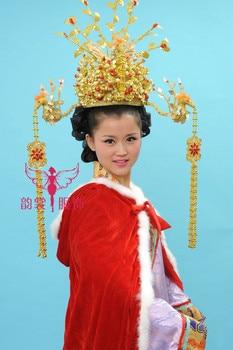 Three Phoneix Bride Wedding Tiaras Hanfu tang suit cap costume hair accessory bride costume hair coronet