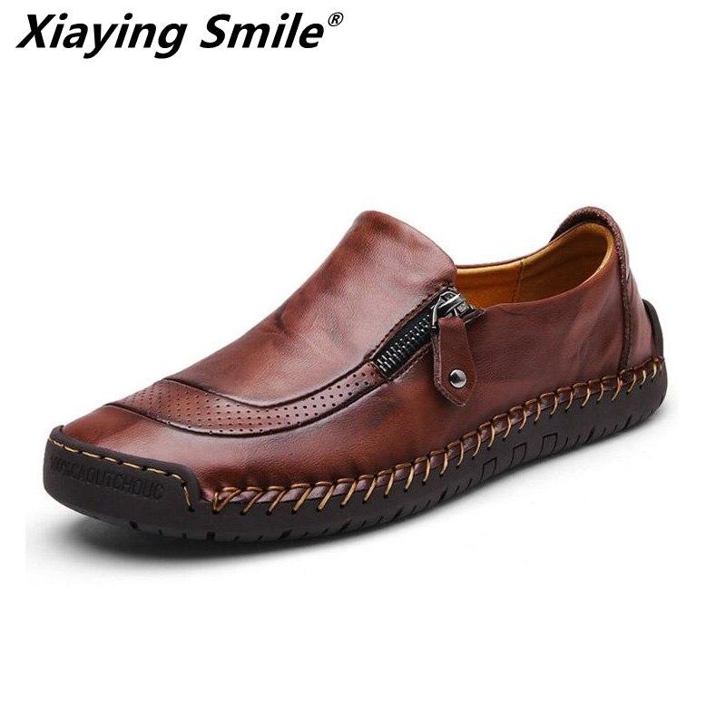 Nouvellement Homme Loisirs Chaussures Synthétique Souple Légèreté vache top en cuir Chaussures De Mode Chaussures de travail Homme Sneakers skate chaussures de tennis