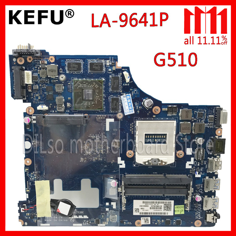 KEFU LA-9641P For Lenovo VIWGQGS LA-9641P for Lenovo G510 Laptop Motherboard motherboard Test la 9642p for lenovo ideapad g510 laptop motherboard 90003691 ddr3l free shipping 100% test ok