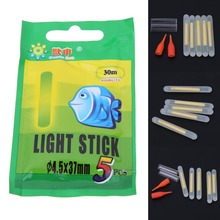 25Pcs 37mm 4.5mm Luminous Fishing Float Night Fluorescent Float Lightsticks Glow Sticks for Fishing EA14
