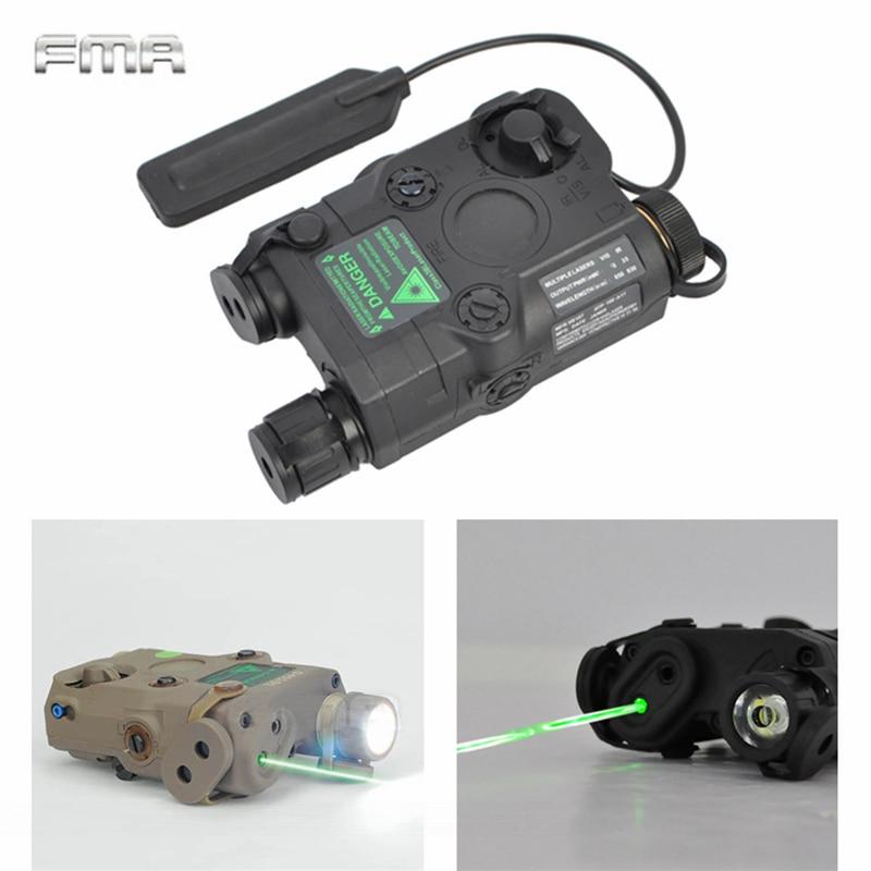 AN PEQ 15 Green Dot Laser White LED Flashlight 270 Lumens for Standard 20mm rail Night