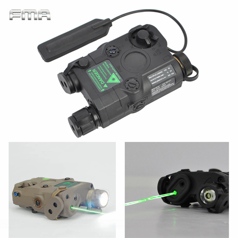 AN/PEQ-15 Green Dot Laser White LED Flashlight 270 Lumens For Standard 20mm Rail Night Vision Hunting Rifle Battery Case Element