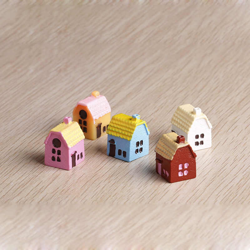 3PCS/lot 1.7x1.5cm Doll house Handmade house birthday gifts 3D puzzles for adults and lovers dream house children color random