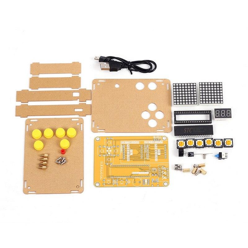 DIY Kit Jeu Kit Électronique Créatives Expérience Kit w/Shell pour Tetris/Serpent/Avion/Racing