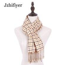 Jzhifiyer men scarf wool jacquard woven male plaid tassel shawls inverno mens fashion warm brand homme best gifts