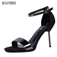2017 New Sweet Summer Women High Sandal Thin Fashion Female High Heel Shoes Sexy Comfortable Ladies