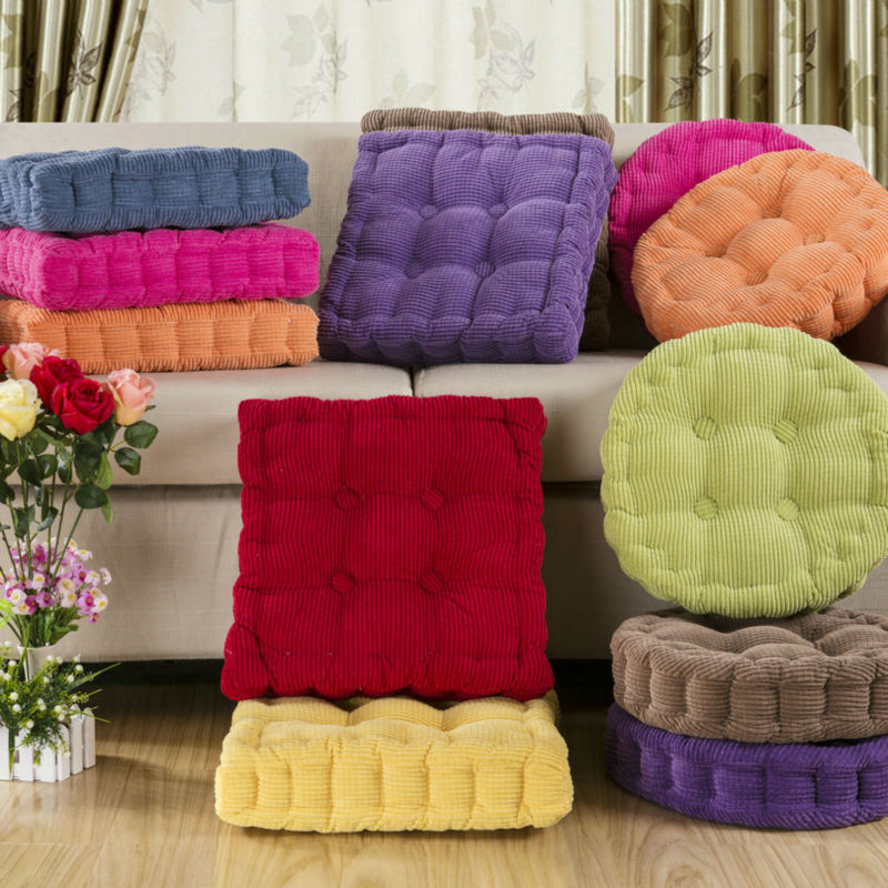 Aliexpress Com 45 45cm Chair Pad Futon Cushion Pearl Cotton Filler Solid