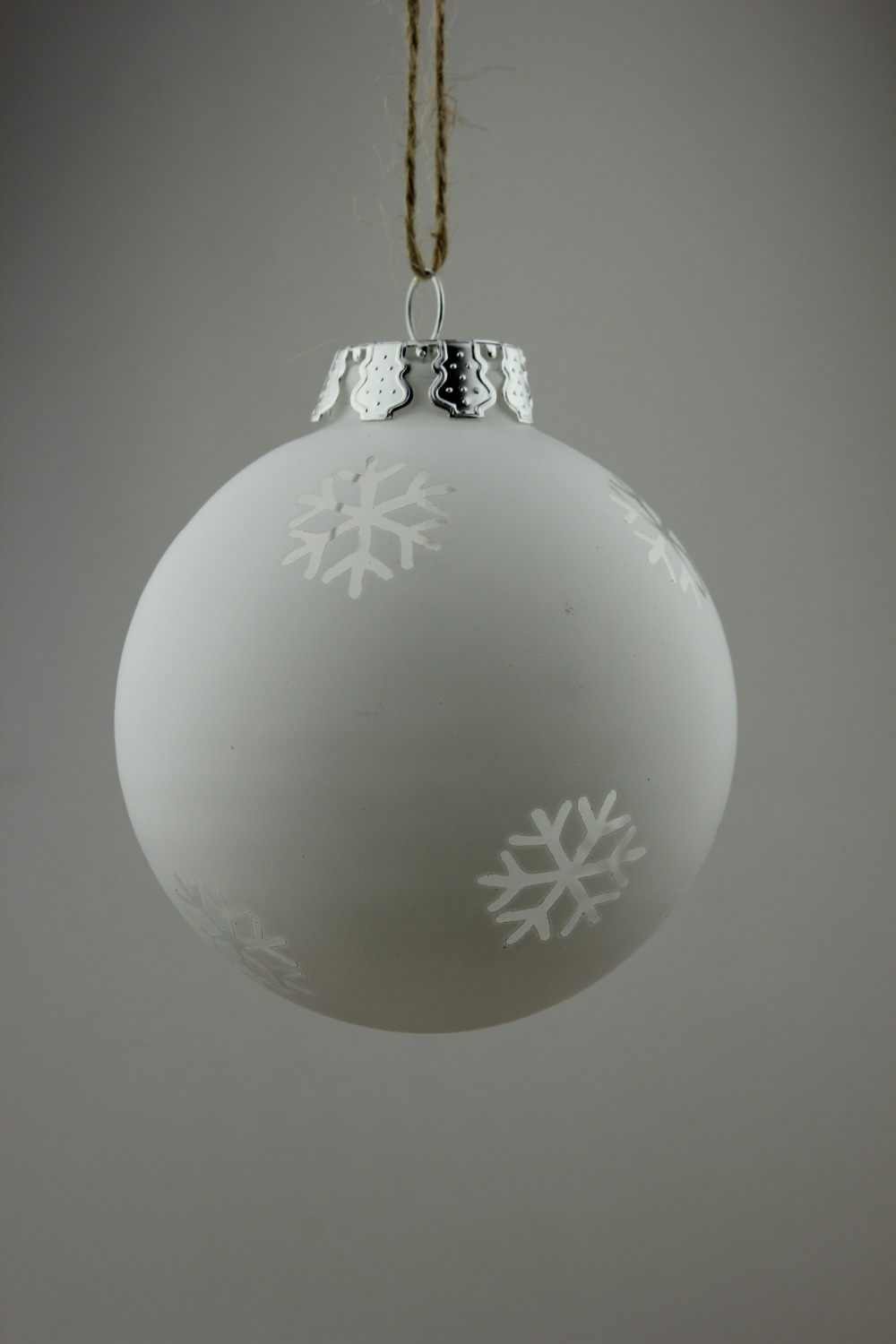 Flat glass ornaments - Frosted White Christmas Ornament Balls Glass Xmas Tree Pendants Wedding Decoration Bauble X
