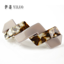 Multicolored  French Hand Making Cellulose Acetate Hair Clip Barrette 8 cm Long FREE SHIPPING