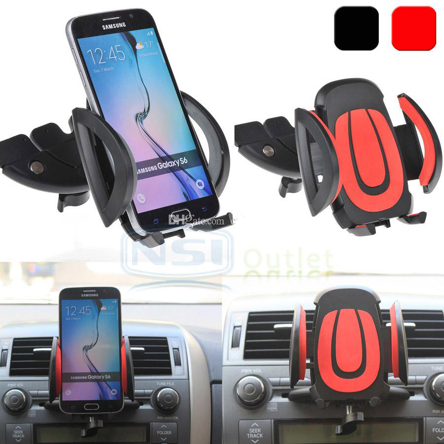 Universal car cd dash slot mount holder dock phone for iphone 6 samsung galaxy s7 edge