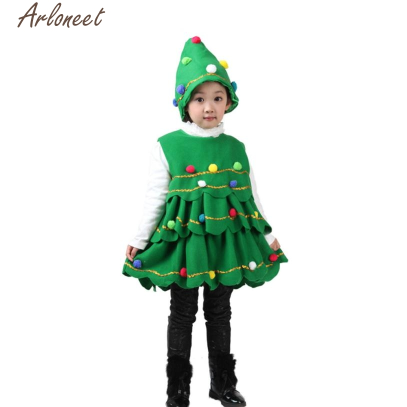 Christmas Tree Dress Costume: ARLONEET Christmas Dresses Kids Baby Girls Christmas Tree