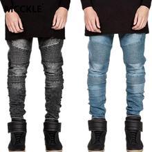 Famous Brand Men Straight Slim Fit Biker Jeans Pant Denim Trousers Jeans Men Biker Denim skinny Jeans Men