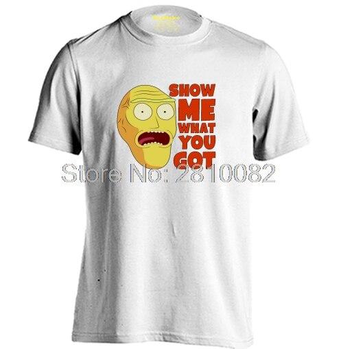 Show мне, что вы получили мужские и женские аниме футболка с рисунком