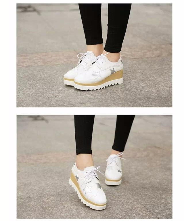 2015 Style Stars Vintage Womens Round Toe Patent Leather Flat Platform Oxford Lace up Derby Shoes Size 35-39 Brogue Shoes PX69 (11)