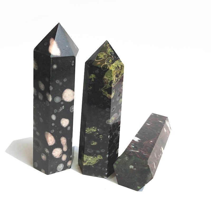 البرقوق الطبيعي اليشم حجر صولجان الشفاء شبه الكريمة كريستال نقطة