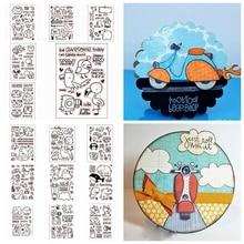 цена на Cute Animal Transparent Clear Silicone Stamp DIY Decor Paper Card Album Making Scrapbooking Template Handicraft Embossing