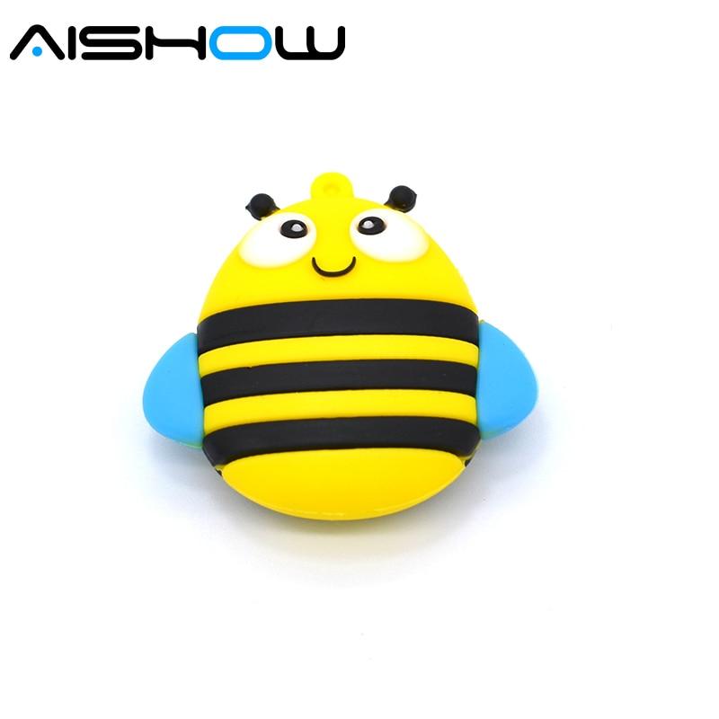 usb flash drive 64g μανδρέσσα μανδρών 32g pendrive 16g 8g 4g νέο στυλ ζεστό πώληση λίγο μέλισσα μοντέλο pendrive usb2.0 u δίσκο δώρο