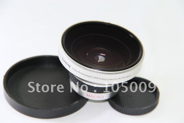 0.25x 37mm Wide FISH EYE Fisheye LENS With Macro Lens For Canon Nikon Pentax Fuji Olympus
