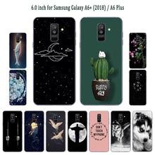 33f48fde8c3 Para Samsung Galaxy A6 + (2018) funda de teléfono funda de Gel transparente  frijoles pintados 6,0