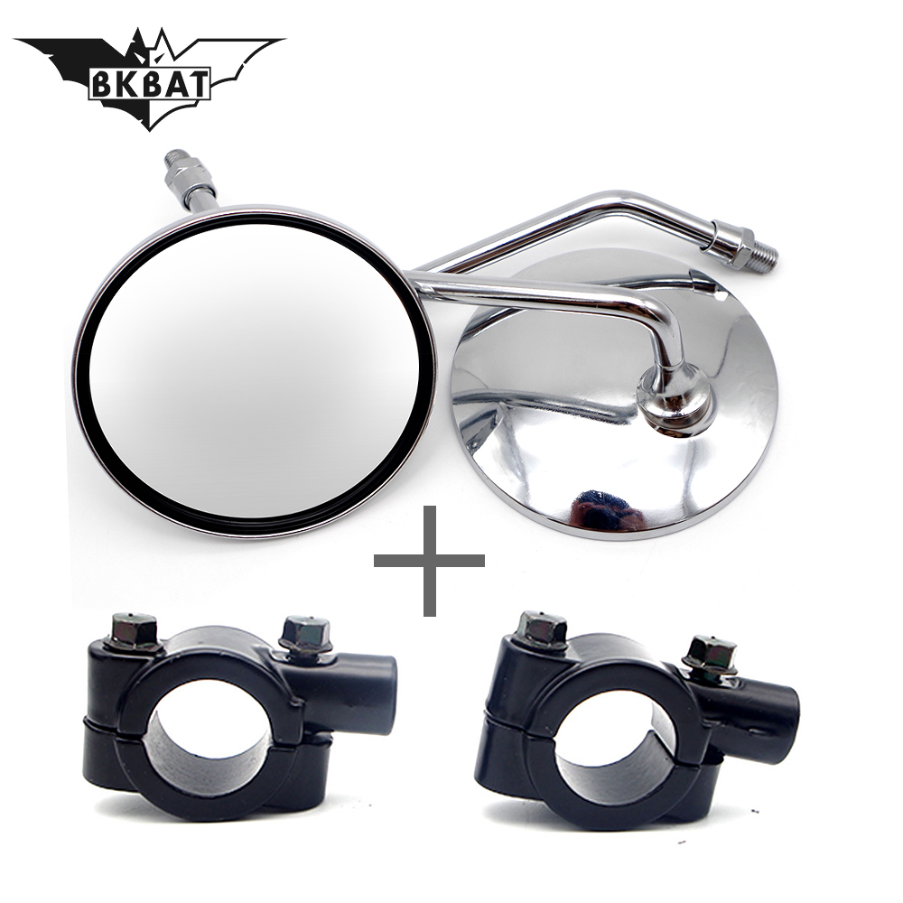 Hot Sale 8mm 10mm Scooter Motorcycle Rearview Mirror With Led Moto Turn Signal Light Side Mirror Carbon Fibre Color Moto Flashers Mirror