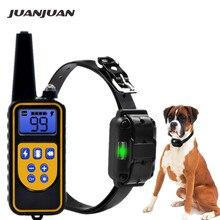Электрический ошейник для дрессировки собак водонепроницаемый перезаряжаемый пульт дистанционного управления для домашних животных с ЖК-дисплеем для всех размеров Ошейники со скидкой 40