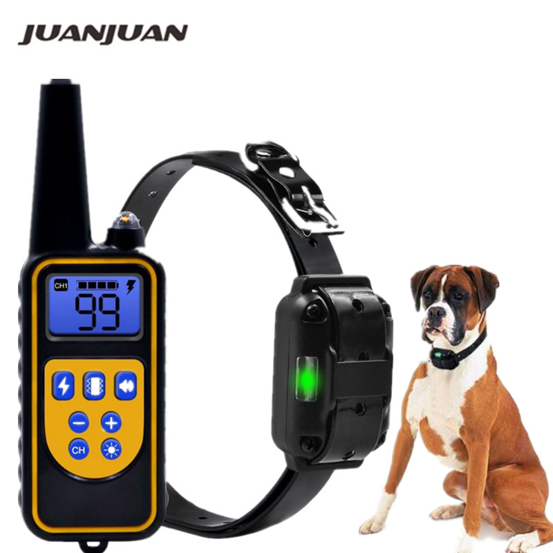 Electric Dog Training Collar Waterproof Rechargeable Remote Control Pet With LCD Display For All Size Bark-stop Collars40% Off