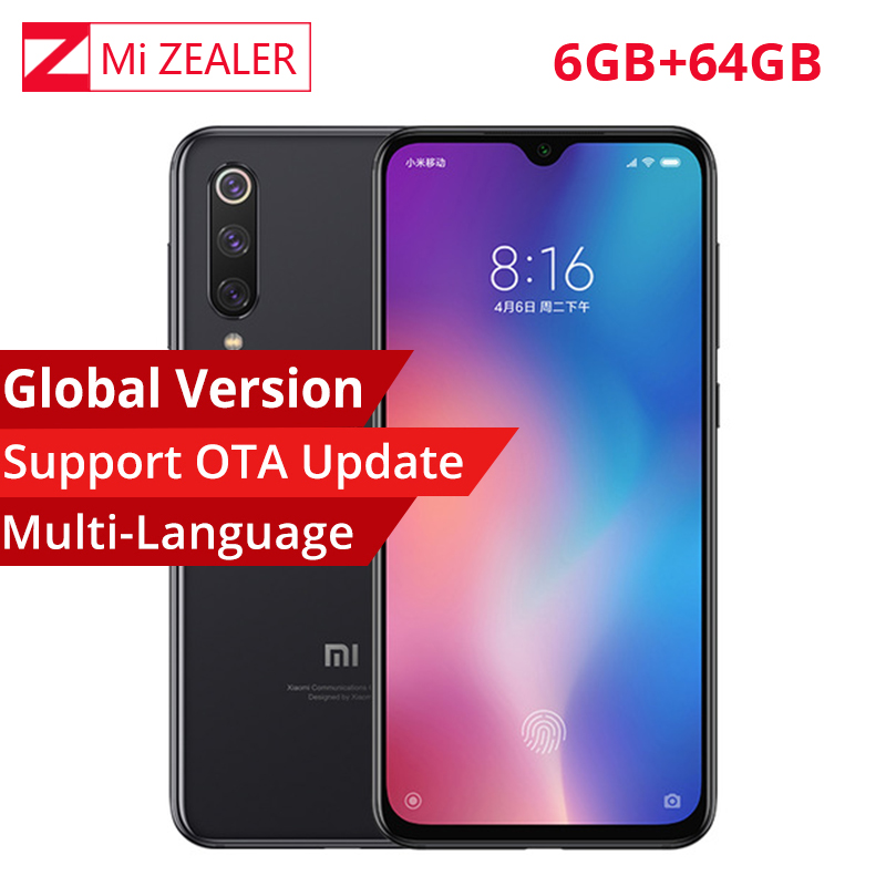Global Version Xiaomi Mi 9 Mi9 Smartphone 6.39 Inch 6GB RAM 64GB ROM Snapdragon 855 Octa Core 48MP+16MP+12MP Triple Cameras