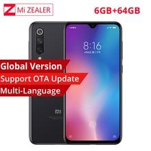Version mondiale Xiao mi 9 mi 9 Smartphone 6.39 pouces 6 go de RAM 64 go ROM Snapdragon 855 Octa Core 48MP + 16MP + 12MP triples caméras