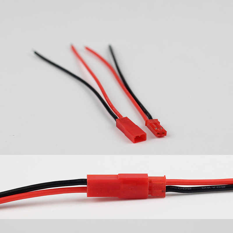 10 زوج موصل من نوع جيه إس تي ضفيرة الذكور الإناث BEC المكونات سيليكون سلك كابل 200 درجة ل RC يبو البطارية 20AWG سلك