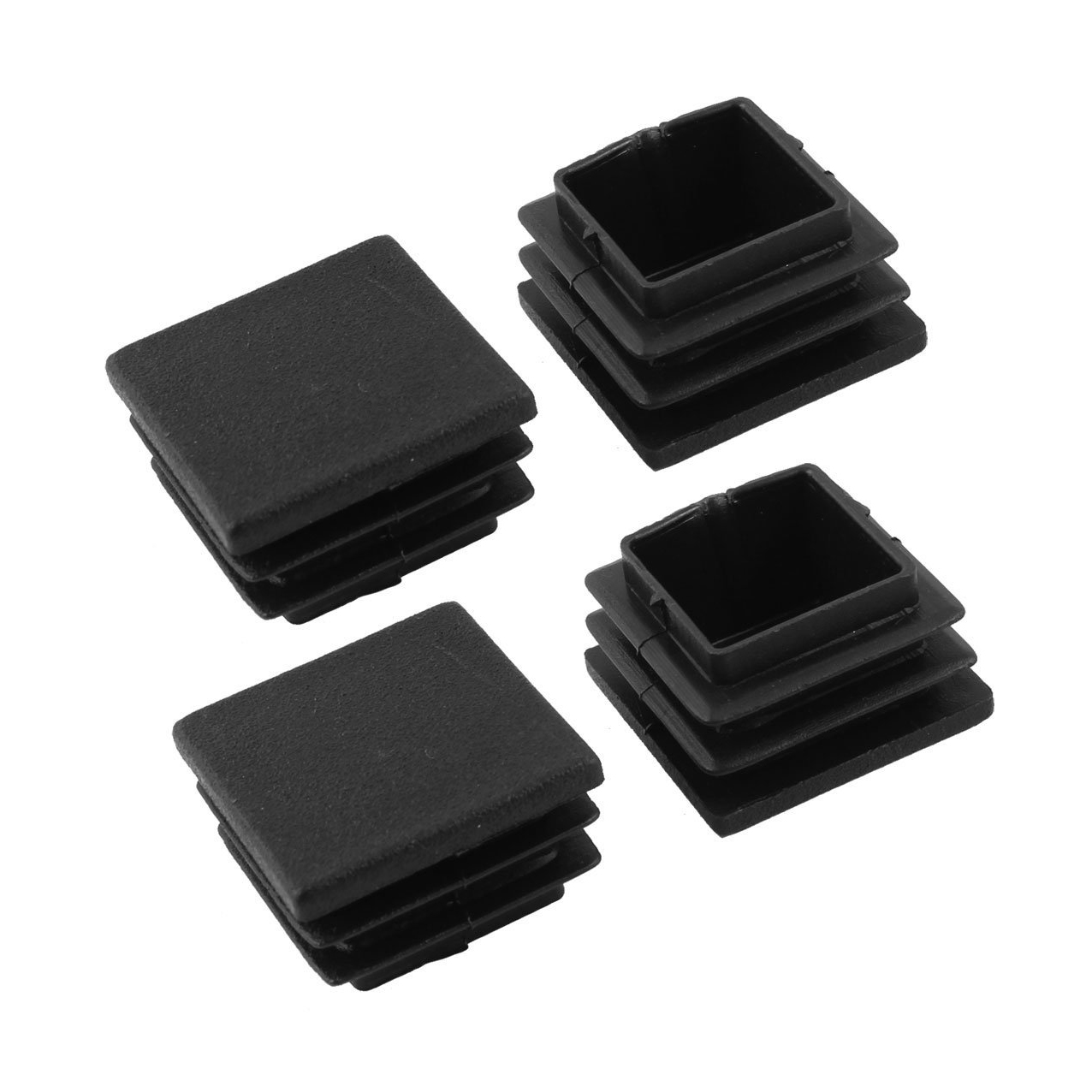 GSFY-Plastic Square Blanking End Caps Tubing Tube Inserts 30mm X 30mm 4 Pcs