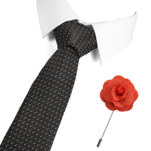 7.5 cm Slim Neck Wedding Tie Skinny Dot Tie for Men Corbatas Men Striped Blue Classic Bridegroom Blue Color Tie&Pin Set цена 2017