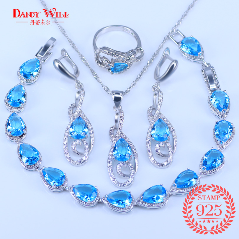 4PCS Attractive Sky Blue...