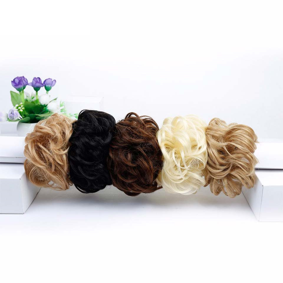 HiDoLA fashion women Synthetic Hair Chignons Ponytail Hair Clip Bundles Hairpieces Donut Buns headwear in Women 39 s Hair Accessories from Apparel Accessories
