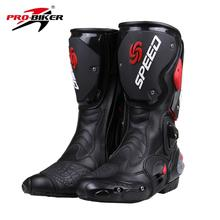 PRO-BIKER Off Road Motorcycle Boots SPEED Botas Moto Racing Shoes Motocross Motorbike Boots Size 40/41/42/43/44/45