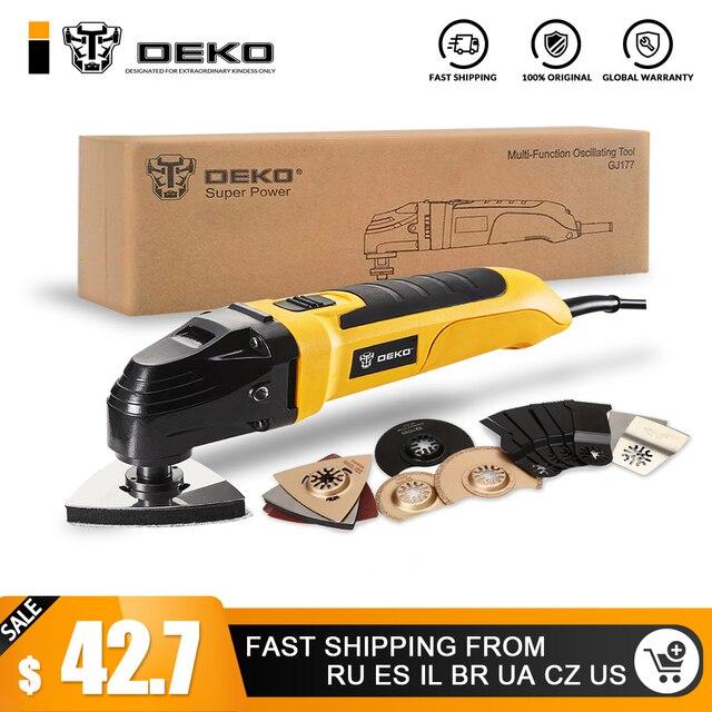 DEKO 220 В переменная скорость Электрический Универсальный Осциллирующий набор инструментов Мульти-инструмент электроинструмент электрический триммер пила ж/аксессуары