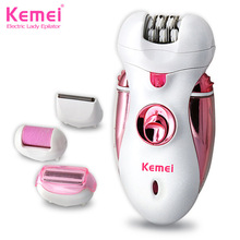 Kemei2530 Newest 4 in 1 Women Shave Wool Device Knife Electric Shaver Wool Epilator Shaving Lady's Shaver Female Care