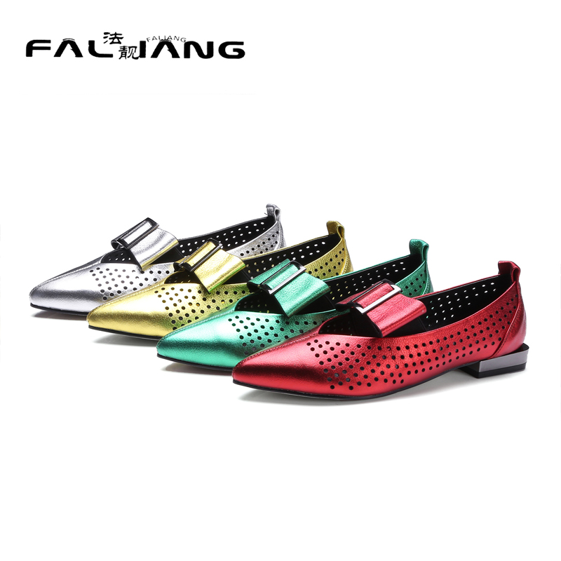 017 New Genuine Leather Fashion Pointed Toe Big Size 11 12 Square heel Butterfly-knot women shoes woman ladies womens