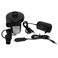 12v Car Electric Air Pump With 3 Adapters For Camping Airbed Boat Toy Inflator