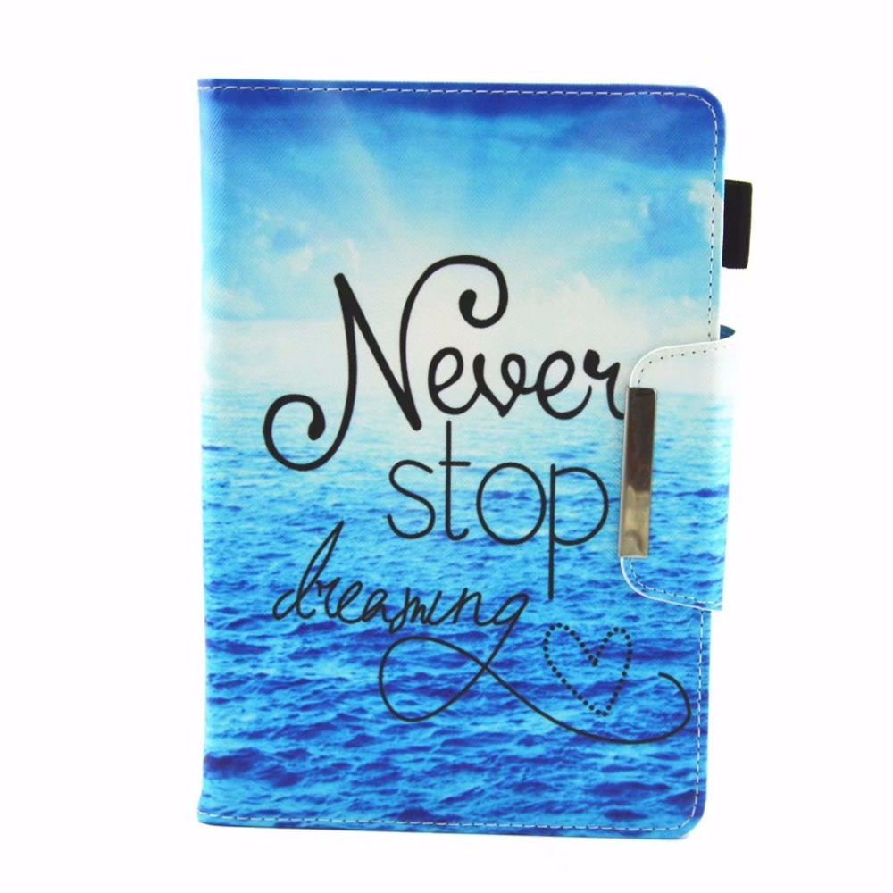 Universal 8 Inch Case For Samsung Galaxy Tab A 8.0 2018 T387 SM-T387V Cartoon Magnetic Print PU Leather Tablet Stand Cover +Pen