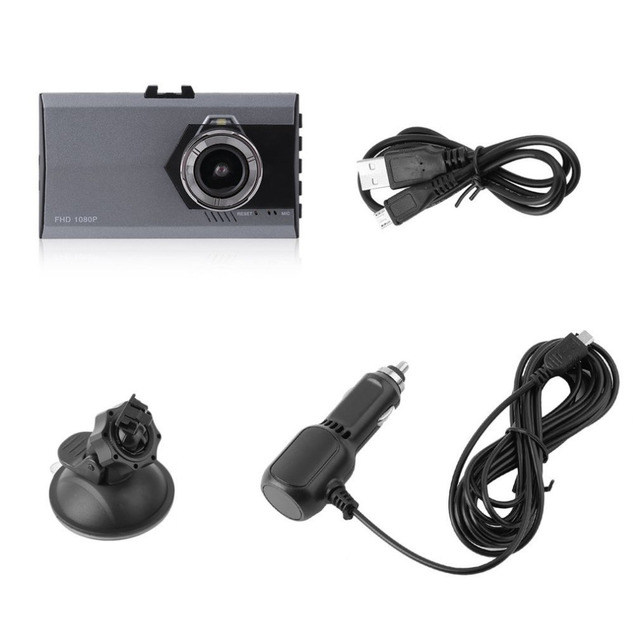 3 Inch LCD Full HD 1080P Night Vision Car DVR 170 Degree Viewing Angle Motion Detection & G-Sensor Video Cam Dash Cameras 4